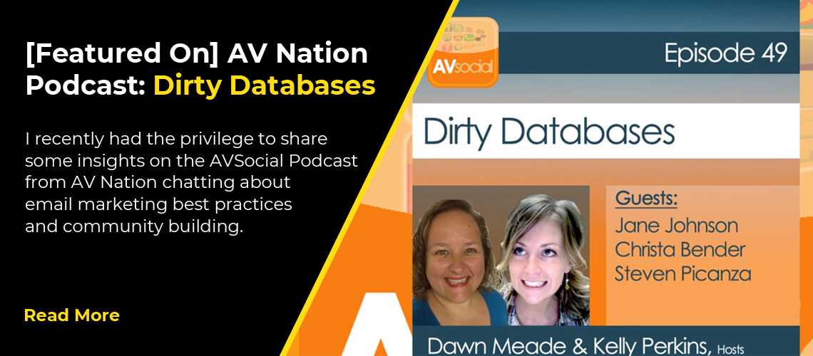 [Featured On] AV Nation Podcast: Dirty Databases