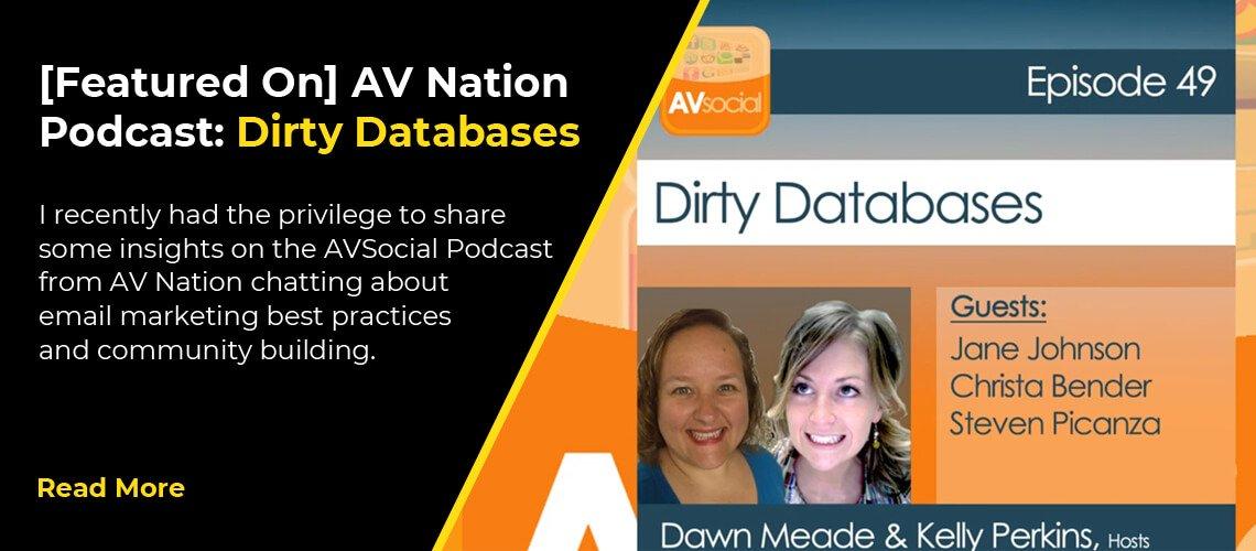 [Featured On] AV Nation Podcast: Dirty Databases